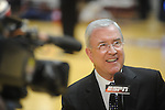 ESPN's Ron Franklin announces the Mississippi vs. Memphis in NIT second round basketball action at the C.M. &quot;Tad&quot; Smith Coliseum in Oxford, Miss. on Friday, March 19, 2010. Ole Miss won 90-81.