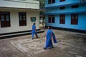 Local masseuse seen at the Nagarjuna Ayurvedic Centre in Kerala, India.
