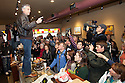 HAMPSTEAD, NH - JANUARY 08: Republican presidential candidate and former Utah Gov. Jon Huntsman campaigns at the Bean Towne Coffee House   on January 08, 2012 in Hampstead, New Hampshire. Polls show Huntsman gaining on front runner Mitt Romney ahead of Tuesday's primary. (Photo by Matthew Cavanaugh/Getty Images)