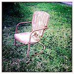 A chair in Oxford, Miss. on January 26, 2012..Photo taken with an IPhone 4 using Hipstamatic app. .©2012 Bruce Newman