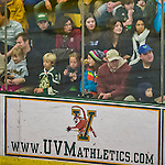 16 November 2013: University of Vermont Catamount fans watch the Providence College Friars take on the Cats at Gutterson Fieldhouse in Burlington, Vermont. The Friars shut out the Catamounts to sweep the 2-game weekend Hockey East Series. Mandatory Credit: Ed Wolfstein Photo *** RAW (NEF) Image File Available ***