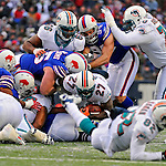 9 December 2007: Miami Dolphins running back Samkon Gado (27) in action against the Buffalo Bills at Ralph Wilson Stadium in Orchard Park, NY. The Bills defeated the Dolphins 38-17. ..Mandatory Photo Credit: Ed Wolfstein Photo