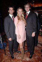 Donald Trump Jr., Vanessa Trump and Eric Trump attend the cocktail party to announce the partnership between Donald Trump and Jerry Powers on TRUMP Magazine at Trump Tower in New York City on September 25, 2007. © RTNDziekan  / MediaPunch