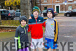 Enjoying the Tralee Junior Park Run on Sunday were Fionn Brosnan, Oisin Brosnan and  Sean Og Brosnan