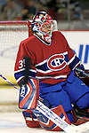 16 January 2007: Montreal Canadiens goaltender Cristobal Huet of France warms up prior to facing the Vancouver Canucks at the Bell Centre in Montreal, Canada. The Canucks defeated the Canadiens 4-0.