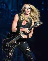 FORT LAUDERDALE FL - AUGUST 12: Nita Strauss of the Alice Cooper Band performs at The Broward Center on August 12, 2016 in Fort Lauderdale, Florida. Credit: mpi04/MediaPunch