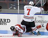 Tyler Helfrich (RPI - 15), Anthony Bitetto (Northeastern - 7) - The visiting Rensselaer Polytechnic Institute Engineers tied their host, the Northeastern University Huskies, 2-2 (OT) on Friday, October 15, 2010, at Matthews Arena in Boston, MA.