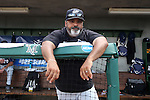 03 June 2016: Nova Southeastern assistant coach Eric Cruz. The Nova Southeastern University Sharks played the Millersville University Marauders in Game 13 of the 2016 NCAA Division II College World Series  at Coleman Field at the USA Baseball National Training Complex in Cary, North Carolina. Nova Southeastern won the first game of the best of three Championship Series 2-1.