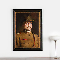 "Anonymous 20th Century: ""John Joseph Pershing, American General"", Digital Print, Image Dims. 36"" x 24"", Framed Dims. 43"" x 30.5"""