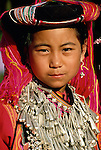Portait of Lisu girl, Thailand
