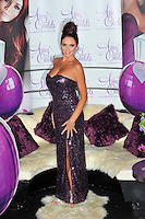 Amy Childs.Launches her debut fragrance 'Amy Childs' at Aura London, England..August 15th, 2012.full length purple strapless sequins sequined dress slit split side .CAP/CJ.©Chris Joseph/Capital Pictures.