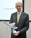 September 4, 2011, Tokyo, Japan : President of Boeing Japan, Mike Denton atennds a press conference in Tokyo, Japan, on October 4, 2011. (Photo by AFLO) [3620]