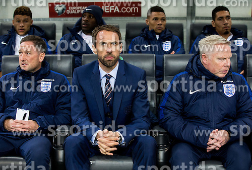 Gareth Southgate, Interim Manager of England (C) during football match between National teams of Slovenia and England in Round #3 of FIFA World Cup Russia 2018 Qualifier Group F, on October 11, 2016 in SRC Stozice, Ljubljana, Slovenia. Photo by Vid Ponikvar / Sportida