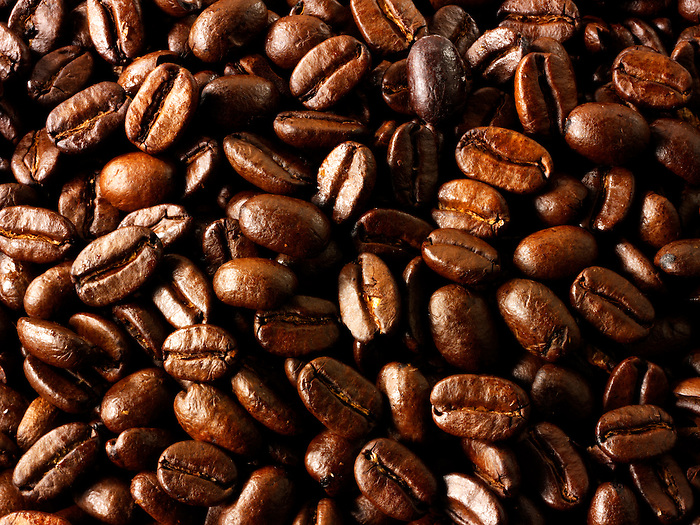 Columbian Fair Trade Coffee  beans stock photos