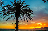 Santa Monica Beach amid the sunset on Wednesday, may 21, 2014.