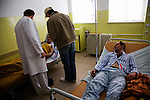 Victims of a mining incident are treated at the urgent care center of Zenica hospital...One man was killed and 14 were injured when there was a methane explosion at a small Bosnian coal mine outside of the city of Zenica. Many of the men working at the small mine lived in the surrounding village and much of the town, including the victims' famalies, surrounded the front gate waiting for information about who was hurt and their condition..Poor mining conditions are typical in the ex-Yugoslavia and this incident, though relatively uncommon, is expected in this line of work.