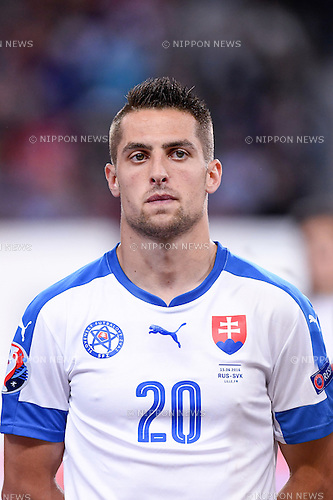 Robert Mak (Slovakia) ; <br /> June 15, 2016 - Football : Uefa Euro France 2016, Group B, Russia 1-2 Slovakia at Stade Pierre Mauroy, Lille Metropole, France. (Photo by aicfoto/AFLO)