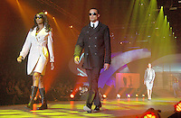 Models strut down the catwalk during Macy's 25th Silver Anniversaries Passport Fashion Show at Barker Hanger on Thursday, September 27, 2007. Macy's Passport in 2007 will surpass $25 million raised for the HIV/AIDS organizations that serve our local communities.