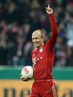 FUSSBALL  DFB POKAL       SAISON 2012/2013 FC Bayern Muenchen - 1 FC Kaiserslautern  31.10.2012 JUBEL nach dem Tor Arjen Robben (FC Bayern Muenchen)