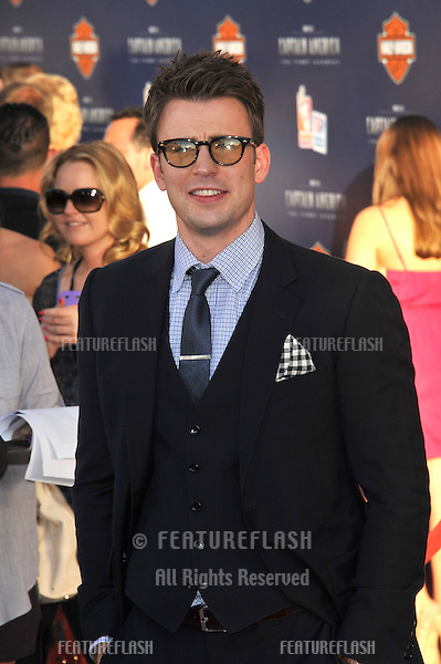 """Chris Evans at the premiere of his new movie """"Captain America: The First Avenger"""" at the El Capitan Theatre, Hollywood..July 19, 2011  Los Angeles, CA.Picture: Paul Smith / Featureflash"""