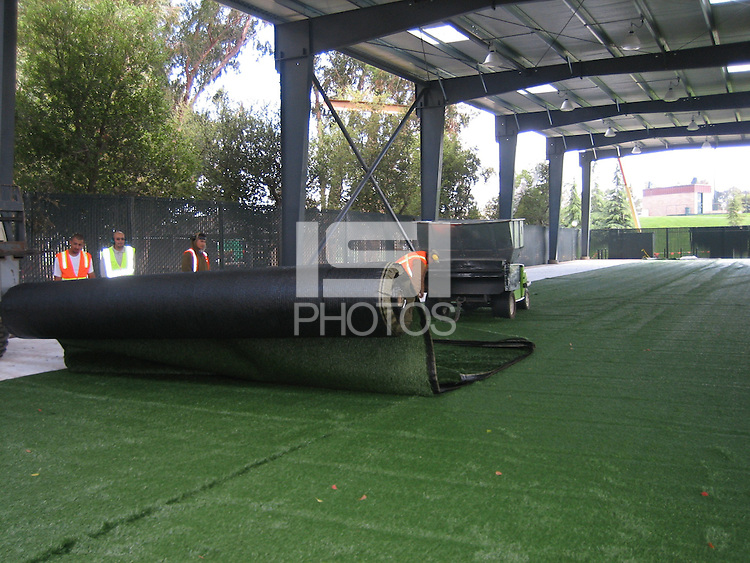 28 March 2007: Photographs of the batting cage facility construction at Sunken Diamond in Stanford, CA.