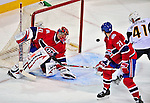 20 December 2008: Montreal Canadiens' goaltender Jaroslav Halak from the Slovak Republic, gives up a goal against the Buffalo Sabres during the second period at the Bell Centre in Montreal, Quebec, Canada. With both teams coming off wins, the Canadiens extended their winning streak by defeating the Sabres 4-3 in overtime. ***** Editorial Sales Only ***** Mandatory Photo Credit: Ed Wolfstein Photo