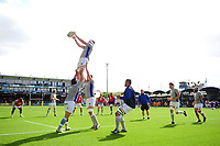 Bath Rugby forwards practise their lineout during the pre-match warm-up. Aviva Premiership match, between Worcester Warriors and Bath Rugby on April 15, 2017 at Sixways Stadium in Worcester, England. Photo by: Patrick Khachfe / Onside Images
