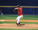 Mississippi's Brett Huber pitches vs. South Carolina during the Southeastern Conference tournament at Regions Park in Hoover, Ala. on Wednesday, May 26, 2010. Huber got the save in the Rebels 3-0 win.