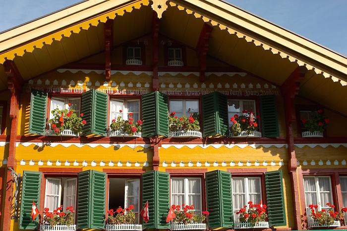Typical Wooden Swiss House - Grinderwald - Alps - Switzerland