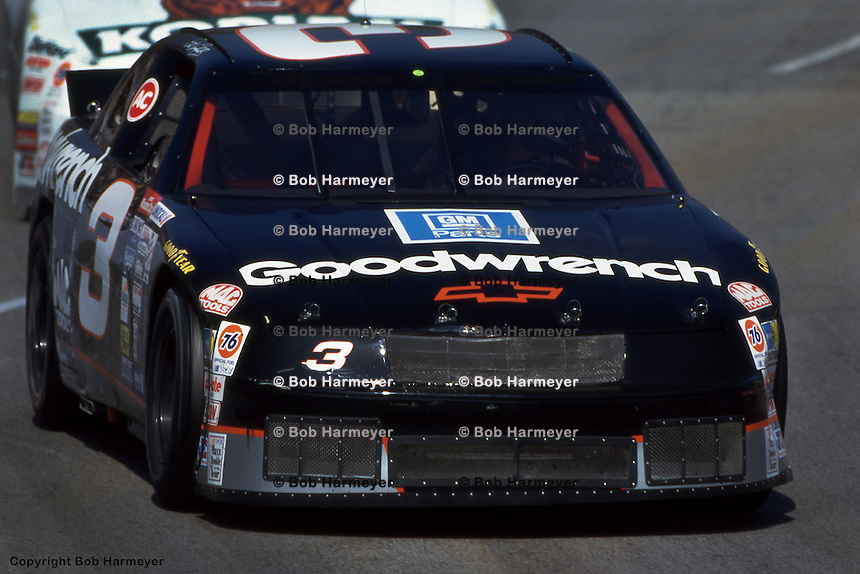 MARTINSVILLE, VA - APRIL 25: Dale Earnhardt drives during the Hanes 500 on April 25, 1993, at the Martinsville Speedway near Martinsville, Virginia.