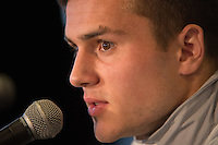 Toronto, ON, Canada - Thursday Dec. 08, 2016: Jordan Morris during a press conference prior to MLS Cup at the Kia Training Grounds.
