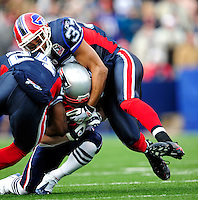 20 December 2009: Buffalo Bills' safety George Wilson (37) makes a tackle against the New England Patriots at Ralph Wilson Stadium in Orchard Park, New York. The Patriots defeated the Bills 17-10. Mandatory Credit: Ed Wolfstein Photo