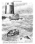 """Caught in the Squall. Visitor to Lighthouse. """"I'm sorry to give you all this trouble; I suppose you know I've come to see you about your income-tax?"""""""