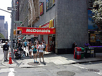 A McDonald's restaurant in New York in Lower Manhattan on Thursday, July 10, 2014. A recent Consumer Reports' survey ranked McDonald's hamburgers as the worst burger in America. Burger lovers are gravitating toward fast casual chains like In-N-Out Burger (which was rated best).  (© Richard B. Levine)