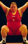 Agata Wrobel of Poland competes in the over 75 kg category in Sydney. September, 2000.