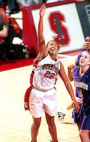 STANFORD, CA - FEBRUARY 26: Enjoli Izidor of the Stanford Cardinal during Stanford's 78-73 win over the Washington Huskies on February 26, 2000 at Maples Pavilion in Stanford, California.