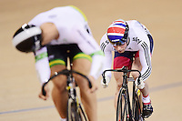 Pictures by SWpix.com - 05/03/2016 - Cycling - 2016 UCI Track Cycling World Championships, Day 4 - Lee Valley VeloPark, London, England -  KENNY Jason just misses out on Gold Medal spot after a photo fins with GLAETZER Matthew of Australia