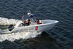 The U.S. Coast Guard patrols the inland and coastal waterways of the United States.