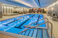 The swimming pool at the prestigous 850 North Lake Shore Drive community in Chicago, IL