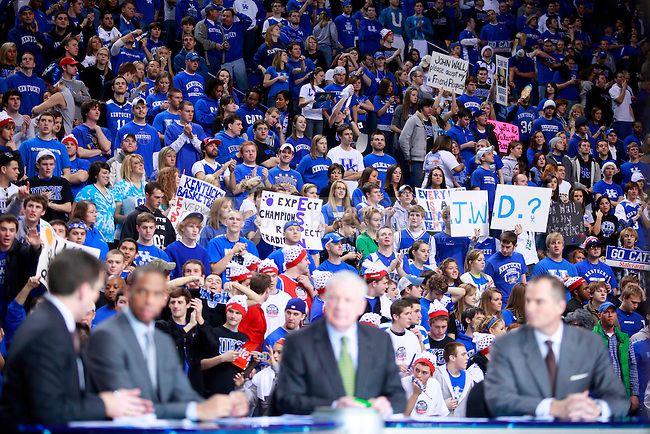 Fans go crazy during ESPN College GameDay at Rupp Arena on Saturday. Photo by Zach Brake   Staff.