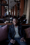 JOHANNESBURG, SOUTH AFRICA: Kweku Mandela, a film maker, and the grandson of Nelson Mandela photographed at the Melrose Arch hotel in Johannesburg, South Africa. (Photo by Per-Anders Pettersson)