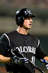 14 June 2006: Brad Hawpe, outfielder for the Colorado Rockies, in action against the Washington Nationals in Washington, DC. The Rockies defeated the Nationals 14-8 in front of 24,273 fans at RFK Stadium...Mandatory Photo Credit: Ed Wolfstein Photo...