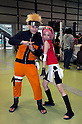 "June 2, 2012, Tokyo, Japan - (L to R) Men and woman dress as Naruto and Sakura anime characters at the Moe Culture Festival 2012.  The Anime and Cosplay exhibition ""Moe Culture Festival 2012"" from June 2nd to 3rd at Otaku Sangyou Plaza Pio.."