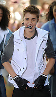 Justin Bieber performs on the Today Show - New York