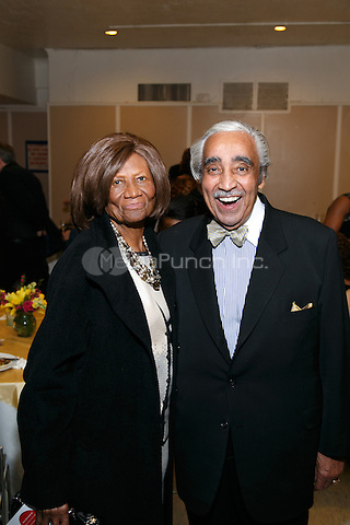 NEW YORK, NY - APRIL 3: Hazel Dukes, Charles B. Rangel pictured as David N. Dinkins, 106th Mayor of the City of New York, receives the Dr. Phyllis Harrison-Ross Public Service Award for a lifetime of public service at the New York Society of Ethical Culture in New York City on April 3, 2014. Credit: Margot Jordan/MediaPunch