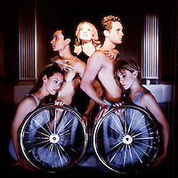 Mary Verdi-Fletcher, center. For 25 years, Dancing Wheels professional dance company (Cleveland, Ohio), led by Mary<br /> Verdi-Fletcher, has integrated professional stand-up dance with sit-down dance performed in wheelchairs.