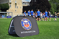 A general view of Bath Rugby branding. Bath Rugby Family Festival of Rugby, on August 8, 2015 at the Recreation Ground in Bath, England. Photo by: Patrick Khachfe / Onside Images