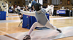 11 February 2017: Duke's Jan Maceczek during Foil. The Duke University Blue Devils hosted the Boston College Eagles at Card Gym in Durham, North Carolina in a 2017 College Men's Fencing match. Duke won the dual match 18-9 overall, 9-0 Foil, and 6-3 Saber. Boston College won Epee 6-3.