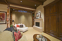 View of fireplace and lounge in master suite