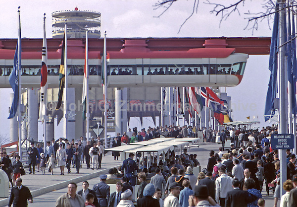 1964 World's Fair, Flushing Meadows, New York. More than 51 million people attended the fair during 1964-65. Photo by John G. Zimmerman.